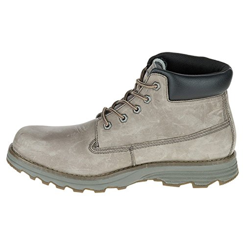 Caterpillar Mens Founder Soft Toe Lace Up Safety Shoes, Grey, Size 8.0