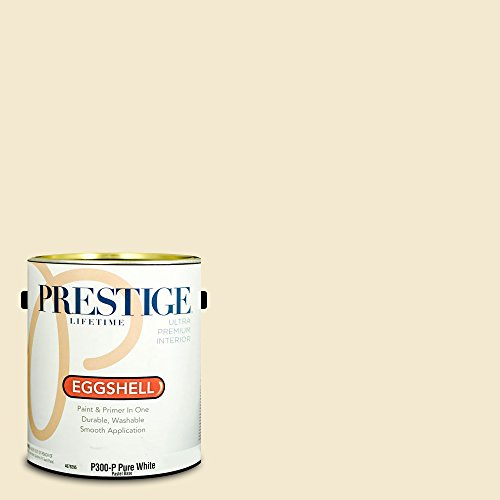 Prestige Paints Interior Paint and Primer In One, 1-Gallon, Eggshell,  Comparable Match of Benjamin Moore Cameo White -