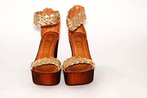 John W. Shoes Leticia 1083 - Sandalias de vestir de ante para mujer, color gris, talla 41