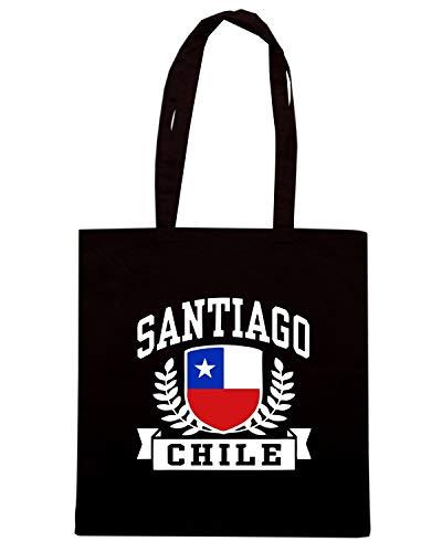 Speed CHILE Shirt TSTEM0201 Nera SANTIAGO Shopper Borsa RPzqR