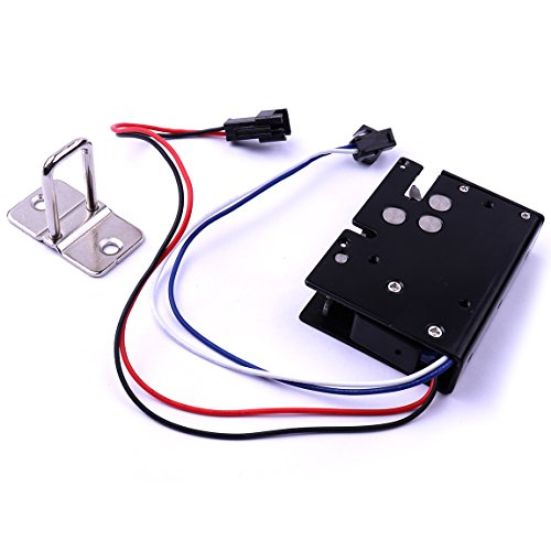 Atoplee Door Drawer Tongue Down Electric Lock Assembly Solenoid DC 12V/24V Slim Design Lock,5 Styles (DC 12V,3.4A)