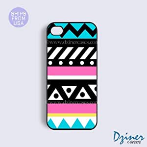 iPhone 5 5s Case - Turquoise Pink Cute Aztec iPhone Cover