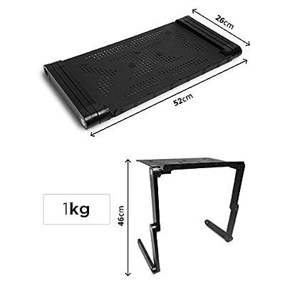 Duronic DML121 Laptopständer/Notebooktisch/Laptophalterung/Betttisch - höhenverstellbar und zum zusammenklappen…