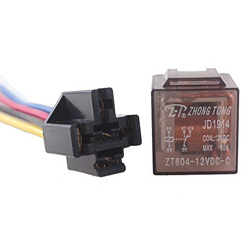 60a Relay - E Support Car Truck Auto 12V 60A 60 AMP SPDT Relay Relays 5 Pin Socket Plug 5 Wire