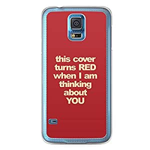 Turns Red Samsung Galaxy S5 Transparent Edge Case