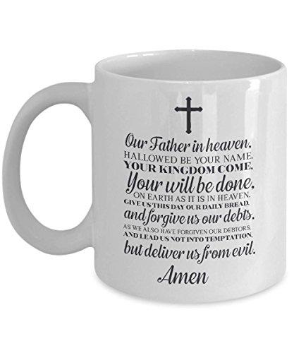 lords Prayer The whole thing mug god mug Prayer mug our father Prayer mug bible Quotes christian coffee mug