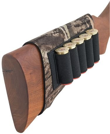 Neoprene Buttstock Shell Holders (AA&E Leathercraft 8600247-393 Mossy Oak Breakup Neoprene Butt Stock Shotgun Shell Holder, Realtree)
