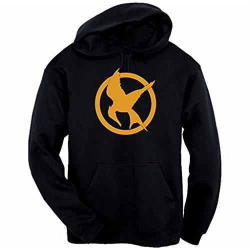 Hunger Games Mockingjay Hoodie (Small, Black) (Ending Of The Hunger Games Mockingjay Part 1)