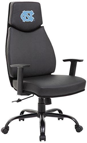 North Carolina Black Leather - PROLINE NCAA College North Carolina Tar Heels Leather Office Chair