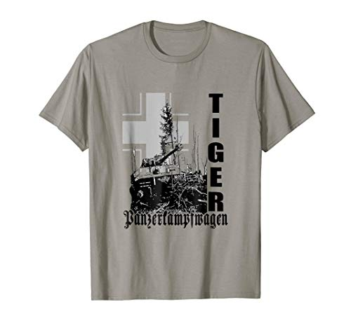 German WW2 Tiger Tank T-Shirt Panzer Shirts Panzerkampfwagen