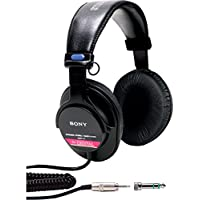 Sony MDR-V6 Studio Monitor Headphones with CCAW Voice Coil (Certified Refurbished)
