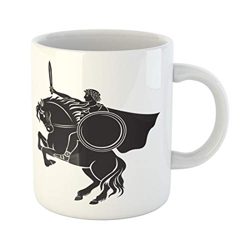 (Semtomn Funny Coffee Mug Julius Caesar on Horseback Painting War Ancient Antique Arena 11 Oz Ceramic Coffee Mugs Tea Cup Best Gift Or Souvenir)