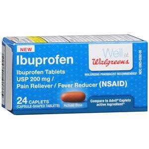 Walgreens Ibuprofen Pain Reliever/Fever Reducer Caplets, 24 -