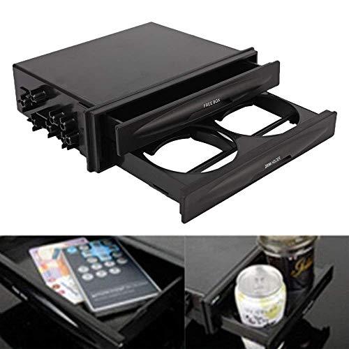 Radio Cup Holder - ALAVENTE Universal Car auto Double Din Radio Pocket Drink Cup Holder + Storage Box