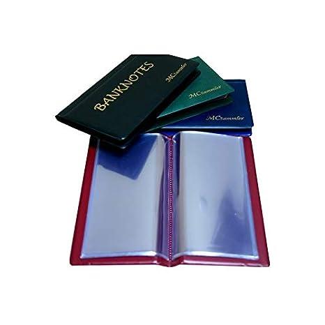 blau MC.Sammler Banknotenalbum Taschenalbum f/ür 20 Banknoten M/ünzalbum Sammelalbum