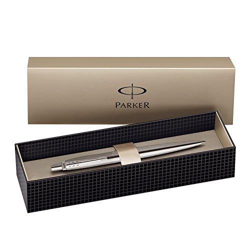 Parker Jotter Stainless Steel Black Ink Medium Point Retractable Ballpoint Pen (1 Each)