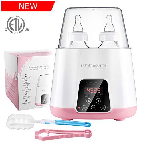 Bottle Warmer for Breastmilk Bottle sterilizer - Baby Food Warmer - 5in1 Intertek US Certified - LCD Touchscreen - Baby Bottle Steam Sterilizer - Portable Bottle Warmer On The Go - Milk Warmer Heater