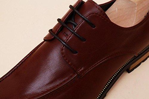 Red Para Cuero Transpirables 41 Vestir Mlsopx De Negocios Zapatos Hombre AqYnx08wE