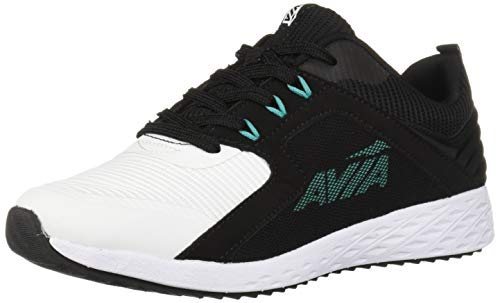 Avia Women's Avi-Ryder Sneaker Black/White/Spectra Green 10 Medium US