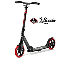 DurableDesign              Our scooter wasdesigned to withstand everyday use and abuse. It is comprised of aluminum alloyand sturdy stainless-steel parts. It is equipped with a front suspension andheat treated break for a comf...