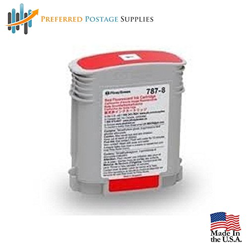 Preferred Postage Supplies Pitney Bowes Compatible 787-0 Red Ink Cartridge
