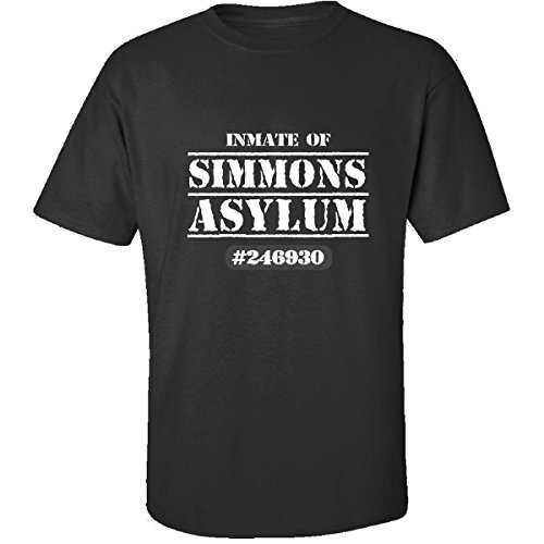 Inmate Of Simmons Asylum Funny Halloween College Humor - Adult Shirt L Black