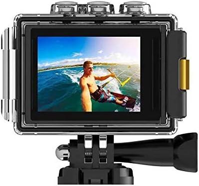 スポーツカメラ DV 4K EISウルトラHDアクションカメラ2.4GリモートWIFIスポーツカメラ 使用可能 多数バイクや自転車や車に取り付け可能 (Color : Black, Size : One size)