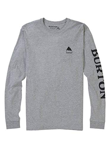 Burton Men's Elite Long Sleeve T-Shirt, Gray Heather, Small