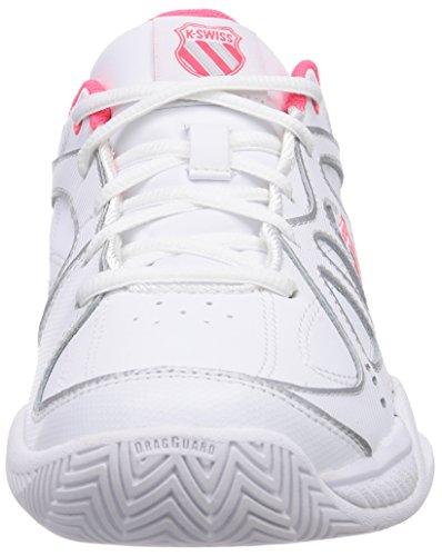 K-Swiss Performance KS TFW EXPRESS 100-Damen Tennisschuhe Weiß (WHITE/NEON RED)