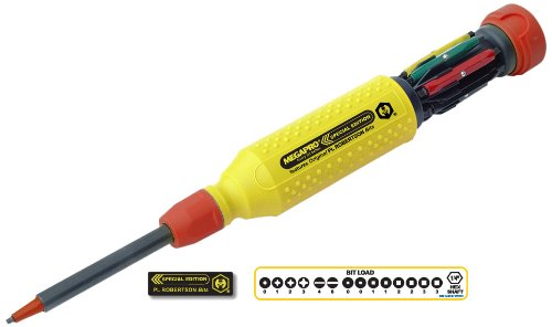 - Megapro 151YW/RD-PLR Steel Hex Multi Bit 15 in 1 Authentic Double-End PL Robertson Screwdriver, 1-1/4