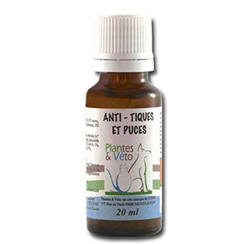 Plantes & Véto Anti-Tiques et Puces Compte Gouttes de 20 ml PV5000