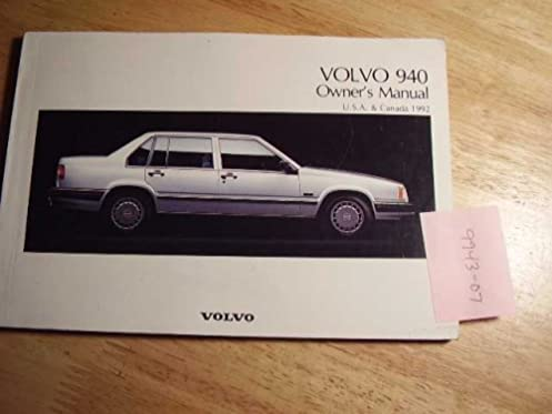 1992 volvo 940 owners manual open source user manual u2022 rh dramatic varieties com Volvo 740 Wagon 1991 volvo 740 owner's manual