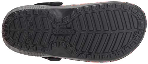 Clog Croslite Graphic Rouge Noir Classic Crocs Lined 0qxav4fw