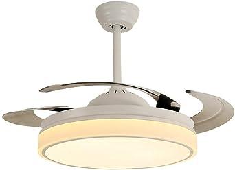 YLCJ Ventiladores de techo LED con lampFan chandelier Moderno ...