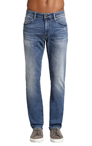 Mavi Men's Jake Regular-Rise Tapered Slim Fit Jeans, Indigo Ripped Chelsea, 28W X 32L