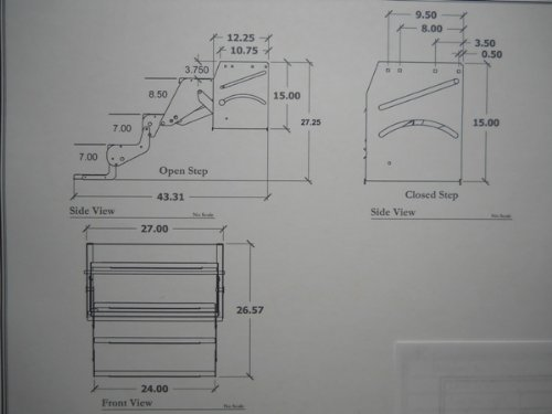 Elkhart Tool RV Motorhome Camper Trailer 24'' Quad Step / 27'' Drop/Foldaway Aluminum Steps by Elkhart Tool (Image #3)