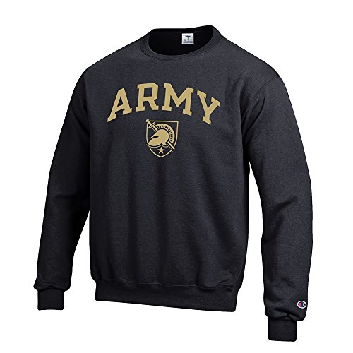 Elite Fan Shop NCAA Army Black Knights Men's Team Color Crewneck Sweatshirt, Black, - Sweatshirt Pullover Army