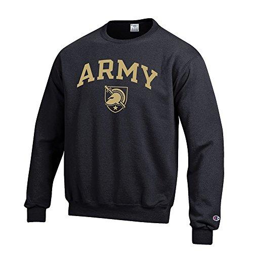 Elite Fan Shop NCAA Army Black Knights Men's Team Color Crewneck Sweatshirt, Black, Large