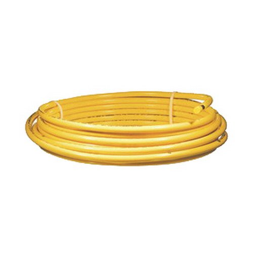3/8'' OD x 100' Yellow Polyethylene Jacketed Refrigeraion Copper Tubing for Natural or LP Gas Service by Cupro