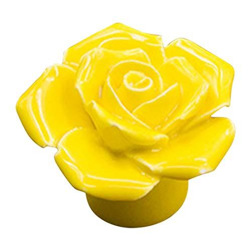 Cabinet Pulls - Antique Rose Ceramic Flower Vintage Knobs Drawer Cupboard Door Porcelain Pull Handle Home - Nautical Guide Brass Nickle Green Kids Bulk Polished Farmhouse Vintage Nature Pump