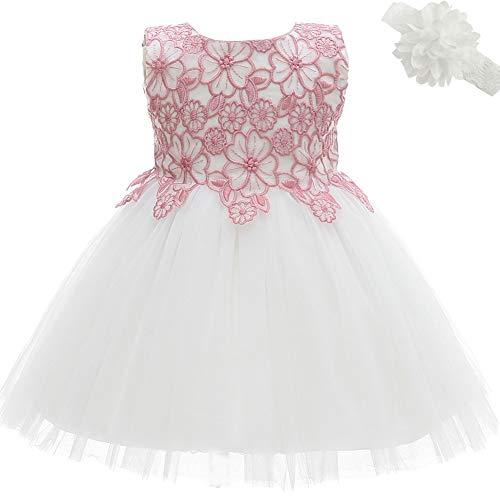d56cee3c5 Amazon.com: AHAHA Baptism Dresses Princess Wedding Special Occasion Baby  Girl Christening Dress: Clothing