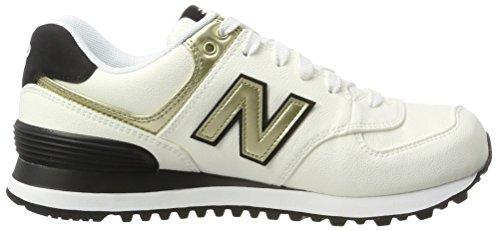 White Zapatillas Balance 574 para New Blanco Mujer ZYEqwnB