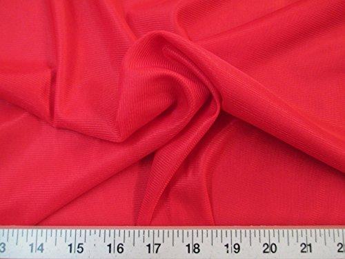 Yard Fabric Nylon 40 Denier Tricot Stretch Red 108 inch Wide TR06