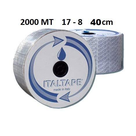 BOBINA DA 2000 MT MANICHETTA GOCCIOLANTE TUBO D. 17 8 MIL PASSO 40 CM
