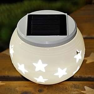 LTY-Stars Pattern RGB Hollowed-Out LED Solar Powered Garden Light -Solar Table Light- Solar Small Night Light In Jar Design(TYN)
