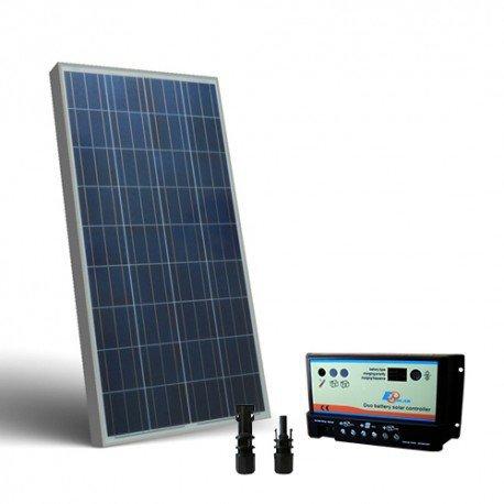 Kit solar Wohnmobil 150W 12V, Photovoltaik Regler für zwei Batterien Polykristallin Bewässerung Außen Zellen off-grid Haus