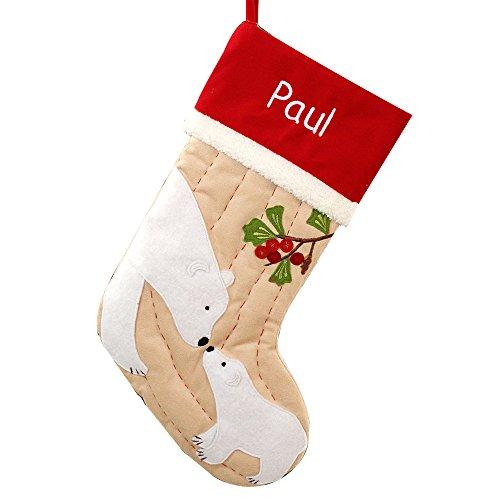GiftsForYouNow Polar Bear Personalized Christmas Stocking, 19