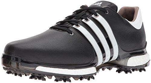 adidas Men's TOUR 360 2.0 Golf Shoe, Core Black/White, 12 M US