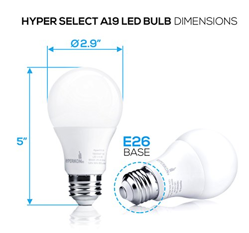hyperselect 9w led light bulb a19 e26 non dimmable led bulb 60w equivalent 3000k soft. Black Bedroom Furniture Sets. Home Design Ideas