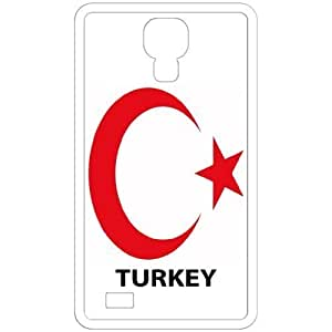 Turkey - Country Coat Of Arms Flag Emblem White For Case Iphone 6 4.7inch Cover Cell Phone